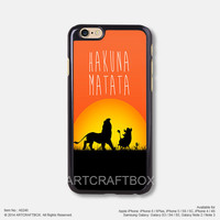 Hakuna Matata lion king iPhone Case Black Hard case 246