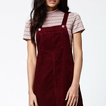 Kendall & Kylie Corduroy Skirtall - Womens Dress - Red