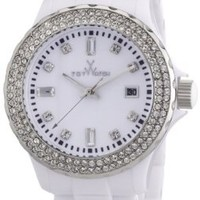 Toy Watch Women's PCLS22WH Quartz White Dial Plastic Watch