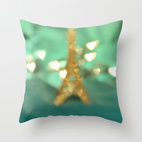 Paris Dreams Throw Pillow by Lisa Argyropoulos
