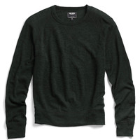 Wool Crewneck Raglan in Dark Teal