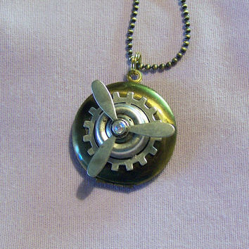 Vintage Brass Propeller Locket