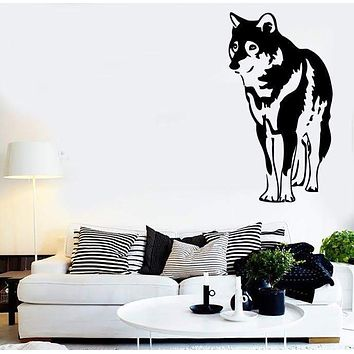 Wall Stickers Wolf Animal Predator Tribal Room Art Mural Vinyl Decal (ig1444)