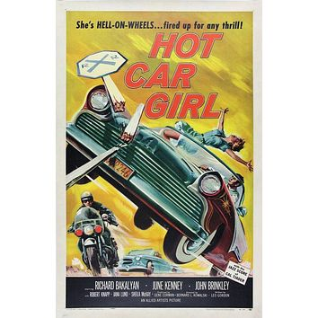 Vintage Hot Car Girl Movie Poster// Classic Movie Poster//Movie Poster//Poster Reprint//Home Decor//Wall Decor//Vintage Art