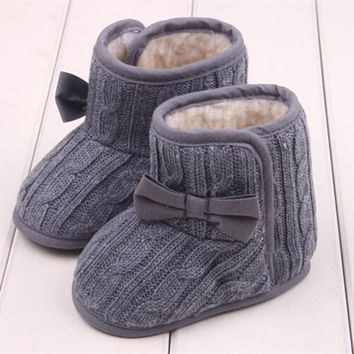 Baby Shoes 1 Pair Snow Boots Crib Shoes Toddler Fleece c Boots