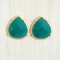 Teal Morning Dew Earrings