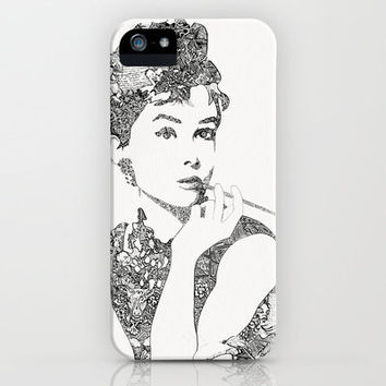 Audrey Hepburn iPhone & iPod Case by Slava Triptih
