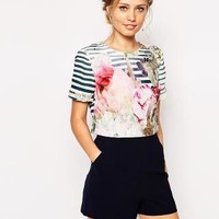 Ted Baker | Ted Baker Romper in Pure Peony Print at ASOS