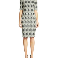 Betsey Johnson Printed Sheath Dress