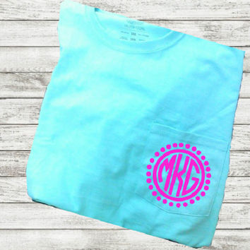 DIY Pocket Monogram, Iron on Monogram, Pocket Iron On