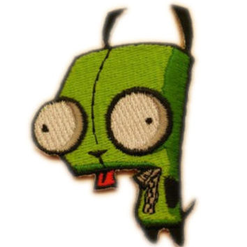 "3"" Invader Zim Animated TV Series Gir Robot Figure Embroidered Iron On Sew On Patch Yellow"