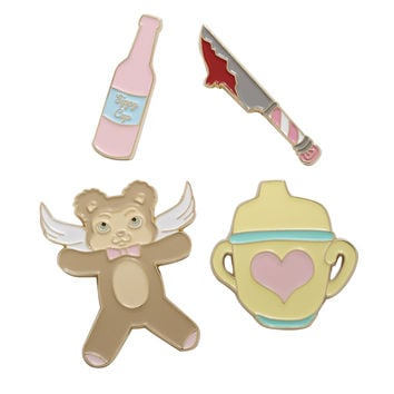 Melanie Martinez Sippy Cup Cry Baby Enamel Pin Set