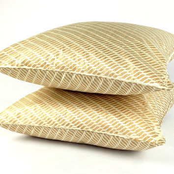 Metallic Gold Cushion, White and Gold Pillow, Wedding Decor, Gold Geometric Pillow, Anniversary Gift for Parents, Sparkle Pillow