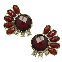 Red Multi-Jewel Gem Earrings