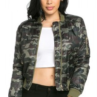 Classic Flight Bomber Jacket in Camouflage