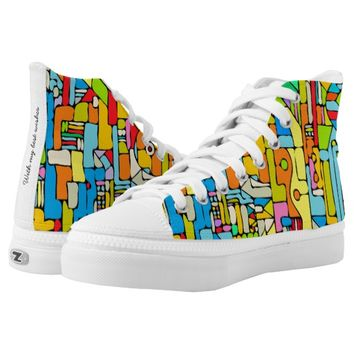 Color puzzle High-Top sneakers