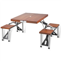 Folding Wooden Picnic Table with Seats