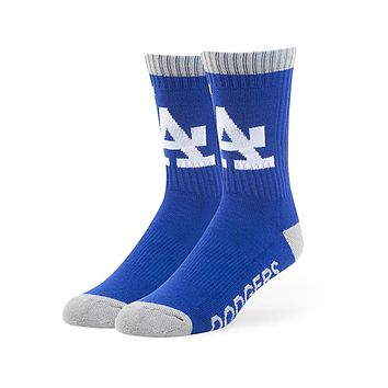 Los Angeles Dodgers - Logo Royal Blue Bolt Sports Socks