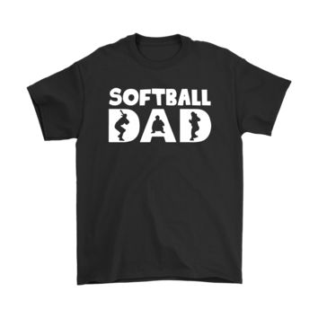 AUGUAU Softball Dad Baseball Father's Day Shirts