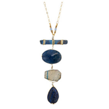 Tiered Blue-Stone Pendant