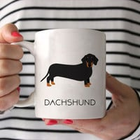 Dachshund Coffee Mug - Dachshund Ceramic Mug  - Dog Mug - Gift for Coffee Lovers - Dachshund Lover Gift - Doxie Mug - Weiner Dog Mug