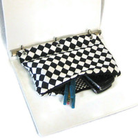 Black and White Pencil Case for 3 Ring Binder with Zipper Back to School Ready to Ship School Supplies Kids Gift