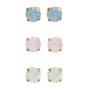 Amy Stud Set - Opal Colors