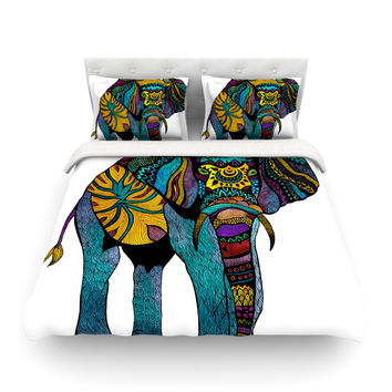 "Pom Graphic Design ""Elephant of Namibia"" Twin Cotton Duvet Cover - Outlet Item"