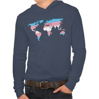 Transgender pride world map Hoodie