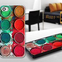 PCFH031 watercolour palette set - Custom Design For iPhone 5 Plastic And iPhone 4 / 4S Case Cover - Black / White Cases