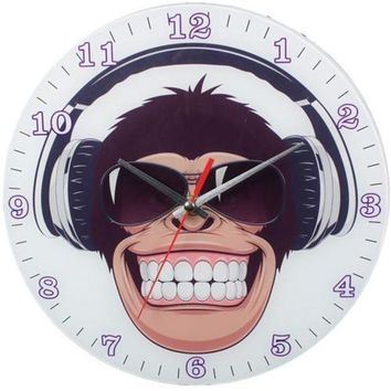 NOVO5 Happy Monkey Wall Clock