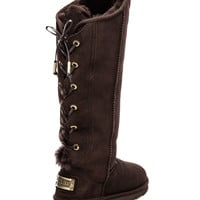 Australia Luxe Collective Dita Extra Tall with Sheep Shearling in Brown
