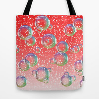 Christmas Bubbles Tote Bag by Alice Gosling