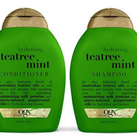 Organix: Tea Tree Mint Hydrating Shampoo + Conditioner, 13 oz Combo Pack
