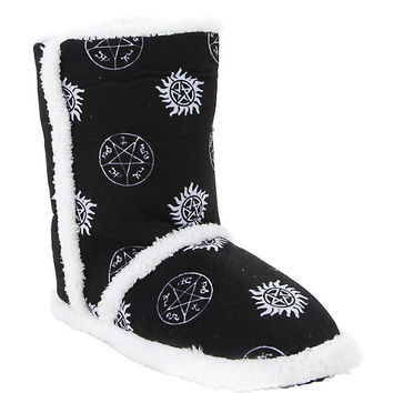 Supernatural Symbols Slipper Boots