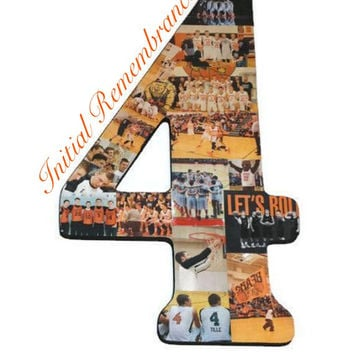 "Number Photo Collage Huge 18"" Double Digit Birthday 10th, 20th, 50th Anniversary Party Senior Night Jersey Number Graduation Memorabilia"