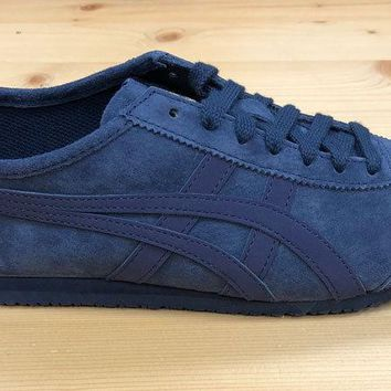 Onitsuka Tiger Mexico 66 Trainers Peacoat Suede Asics Leather Ship Worldwide