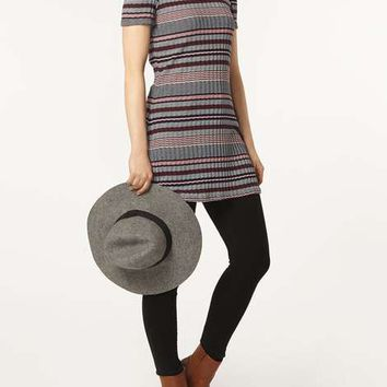 Stripe Cold Shoulder Tunic - Extra 15% Off Sale - Sale & Offers