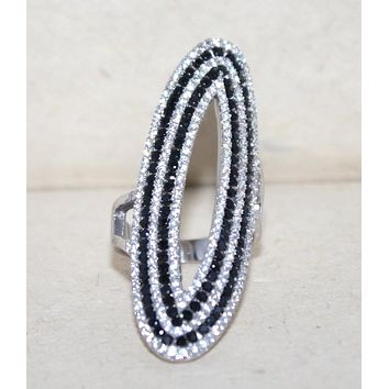 Large Sterling silver CZ statement ring