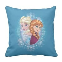 Queen Elsa and Princess Anna Pillow