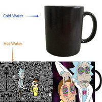 Rick and Morty mugs coffee mugs heat changing colour mug Back To The Future mug heat reveal coffee mugen friend gifts tea