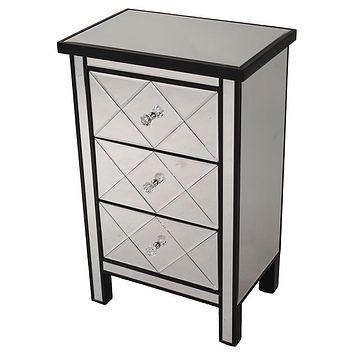 Accent Cabinet w/ Beveled Mirrored Drawers