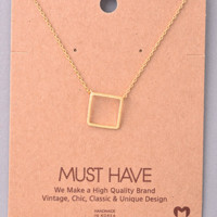 Must Have Necklace: Gold Square
