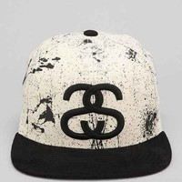 Stussy Splatter Snapback Hat- Black & White One