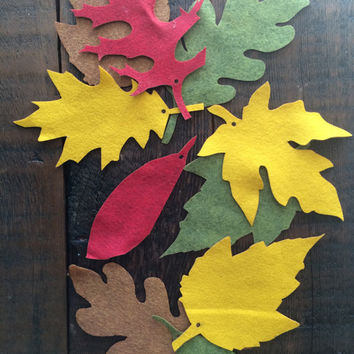Fall holiday felt colored leaves: Perfect for Teachers!  Ask a Question