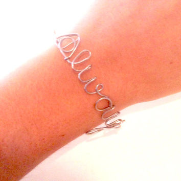 harry potter inspired stainless steel ALWAYS deathly hallows bracelet