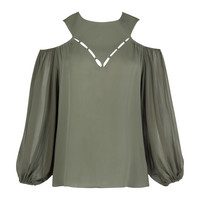 Natalie Detailed Neck Shirt | Moda Operandi