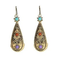 Antique Miao Design Earrings (China) | Overstock.com