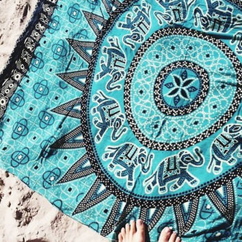 Cupshe The Coolest Square Beach Towel