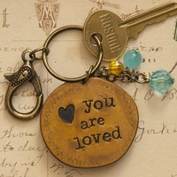 You  Are  Loved  Junk  Market  Token  Keychain  From  Natural  Life